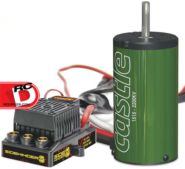 Castle Creations Sidewinder 1/8th ESC and 2200kV Motor