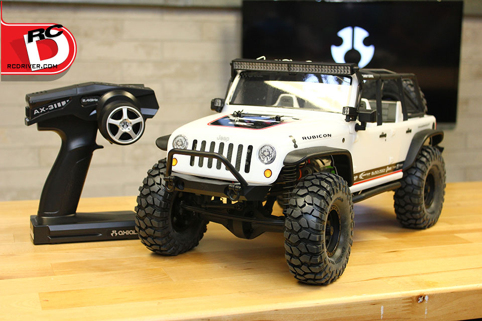 Axial's AX-3 Radio and Jeep Wrangler Unlimited