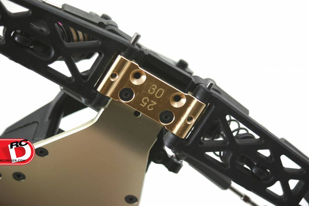 Revolution Design Racing Products - RB6 32G Brass Front Suspension Block _1 copy