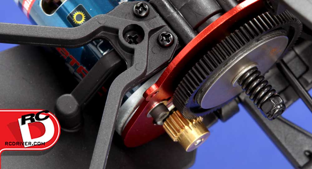 The Volition comes with extremely durable 48 pitch gears and a slipper unit to protect the drivetrain.