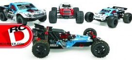ARRMA 2014 range of updated 2WD MEGA brushed all-terrain RC vehicles