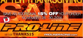 Post Thanksgiving Sale at Pro-Line