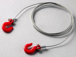 Yeah Racing Steel Wire Rope with Hook