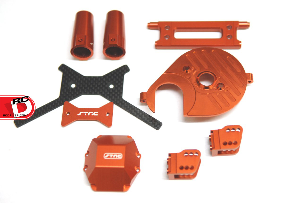 STRC - Orange anodized parts for Axial Yeti
