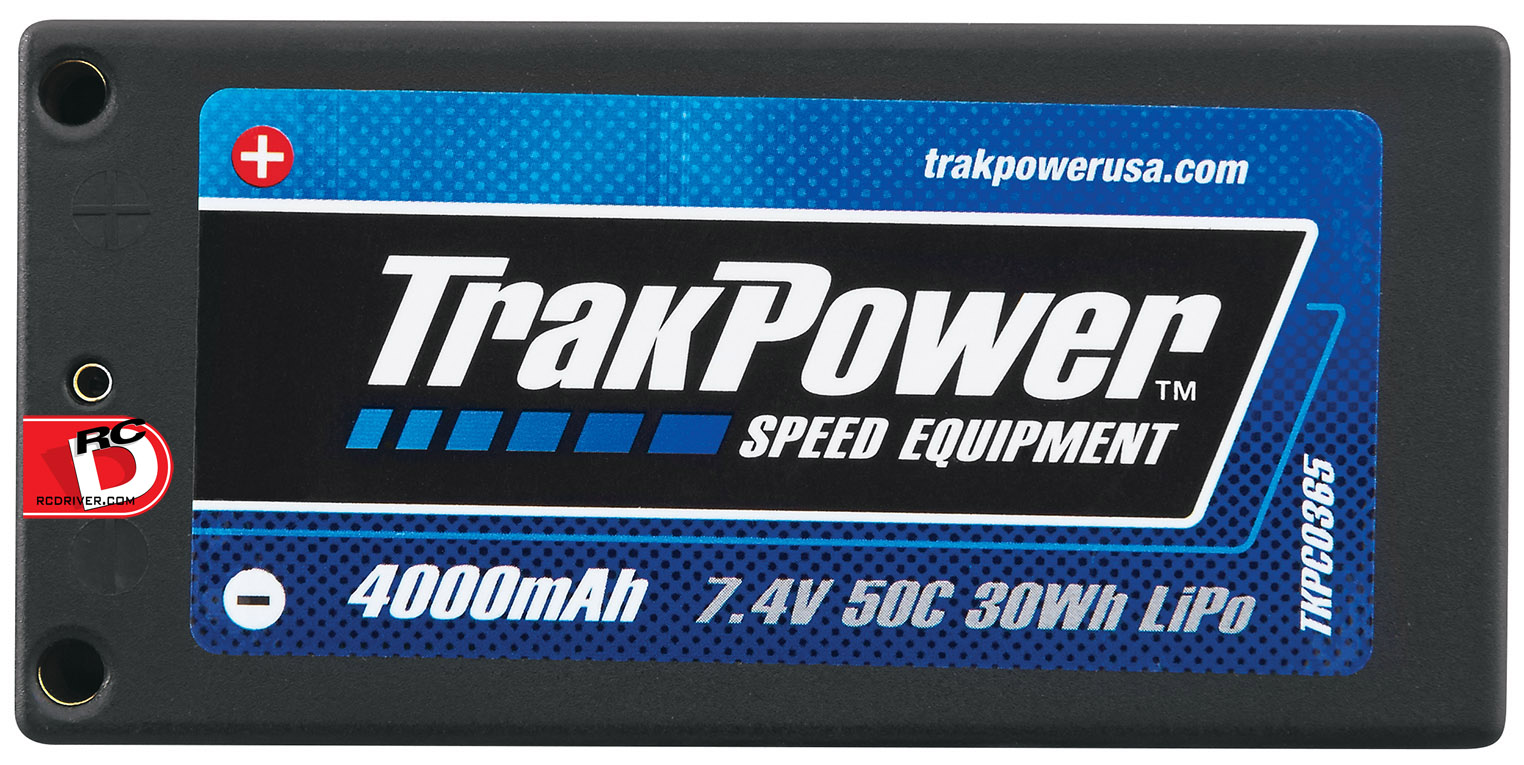TrakPower has 16 new high End LiPo batteries that are sure to impress.  Available in 1S 3.7V, 2S 7.4V and 4S 14.8V with discharge rates ranging between 50C and 100C