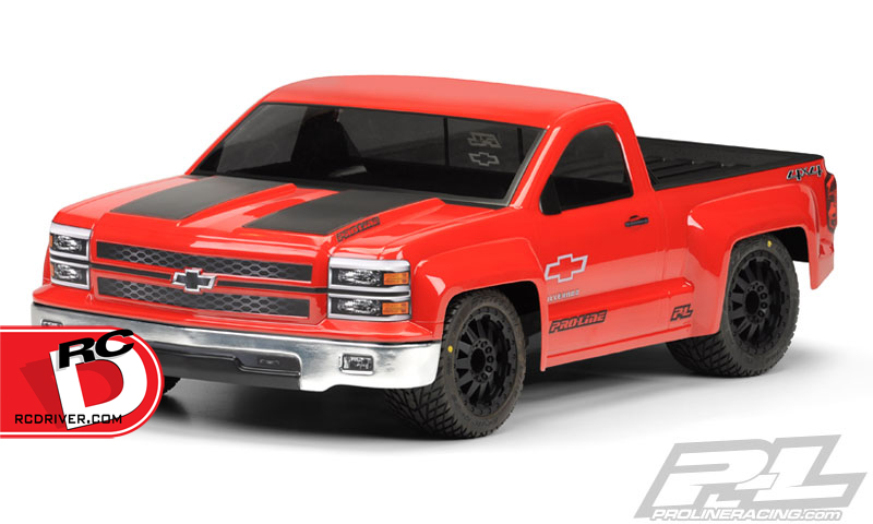 Pro-Line - Chevy Silverado Pro-Touring Clear Body for Short Course Trucks copy