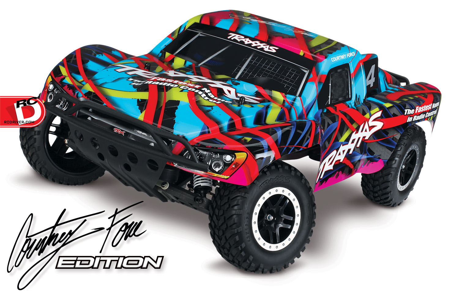 Traxxas - Pink and Courtney Force Editions of the Slash, Stampede, Bandit and Rustler_1 copy