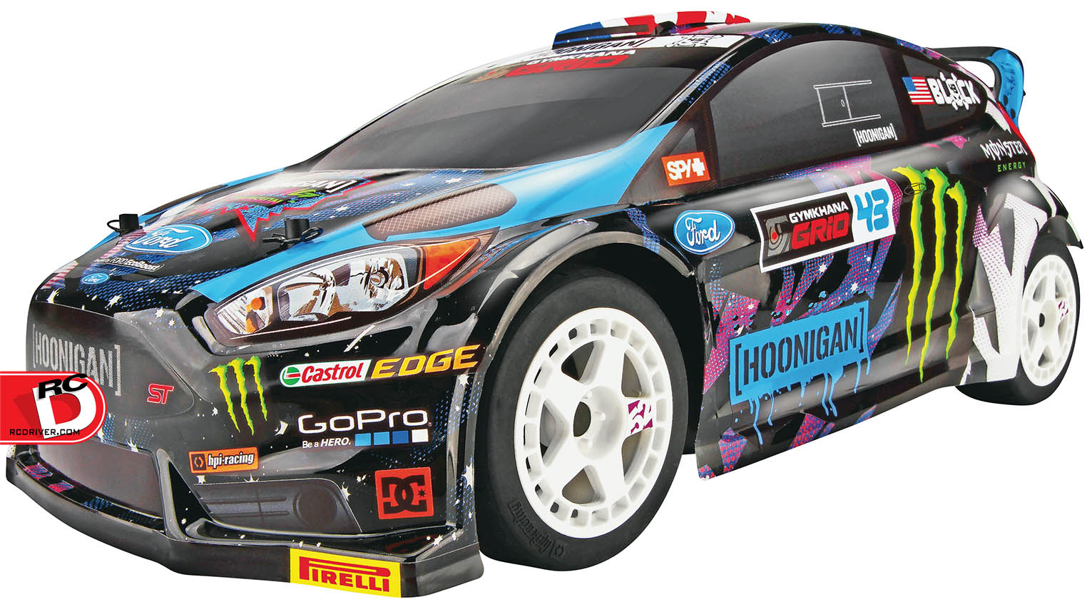 HPI Racing - 1-18 Ken Block 2015 Ford Fiesta Micro RS4 4WD RTR copy