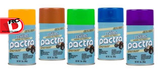 Testors - Pactra RC Lacquer Sprays Available in 19 Colors plus a White Fluorescent Overcoat copy